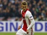 Matthijs de Ligt in action for Ajax on May 3, 2017