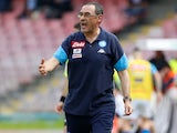 Maurizio Sarri in charge of Napoli on May 6, 2018