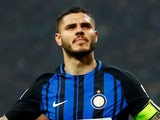 Inter Milan's Mauro Icardi in action against AC Milan on April 4, 2018