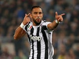 Medhi Benatia in action for Juventus in the Coppa Italia final on May 9, 2018