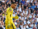 Tottenham Hotspur goalkeeper Michel Vorm in action during his side's FA Cup semi-final with Manchester United on April 21, 2018