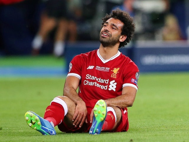 Liverpool forward Mohamed Salah in action during the Champions League final against Real Madrid in Kiev on May 26, 2018