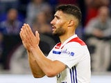 Lyon forward Nabil Fekir in action during his side's Ligue 1 clash against Nice on May 19, 2018