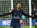 Paris Saint-Germain forward Neymar in action against Marseille on February 25, 2018