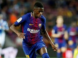 Ousmane Dembele in action for Barcelona in September 2017