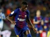 Ousmane Dembele in action for Barcelona in September 2017
