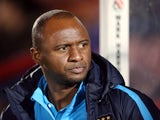 Patrick Vieira pictured during his time in charge of Manchester City's Under-21 team in October 2015