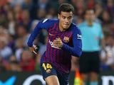 Philippe Coutinho in action for Barcelona on May 20, 2018
