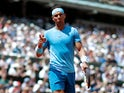 Rafael Nadal in action at the French Open on June 2, 2018