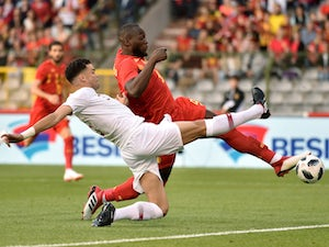Romelu Lukaku and Pepe in action during the international friendly between Belgium and Portugal on June 2, 2018