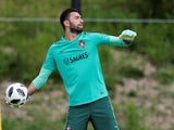 Rui Patricio in a Portugal training session on June 1, 2018