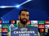 Rui Patricio at a Champions League press conference on September 11, 2017
