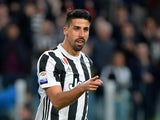 Juventus midfielder Sami Khedira in action during a Serie A clash with Sampdoria on April 15, 2018