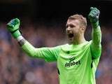Celtic goalkeeper Scott Bain in action during his side's Scottish Premiership clash with Old Firm rivals Rangers on March 11, 2018
