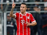 Thiago Alcantara in action for Bayern Munich in the Champions League on March 14, 2018