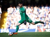 Thibaut Courtois in action for Chelsea on May 6, 2018