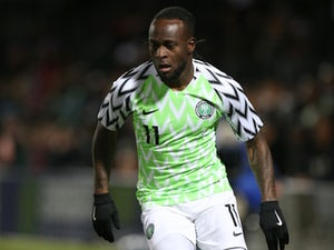 Victor Moses in action for Nigeria in March 2018