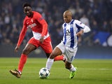 Porto forward Yacine Brahimi in action during his side's Champions League clash with Monaco on December 6, 2017