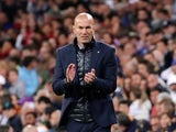 Real Madrid manager Zinedine Zidane watches on during his side's La Liga clash with Celta Vigo on May 12, 2018