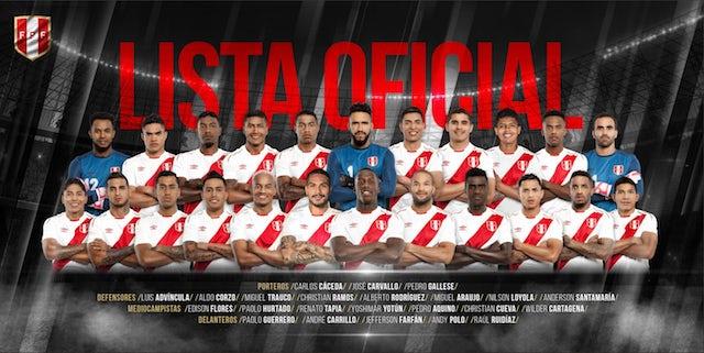 Peru World Cup squad