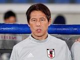 Japan manager Akira Nishino on May 30, 2018