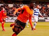 Wolverhampton Wanderers' Alfred N'Diaye celebrates scoring their first goal on February 10, 2018