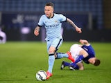 Manchester City's Angelino in action on April 8, 2015