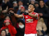 Manchester United winger Anthony Martial in action during a Premier League clash with Stoke City in January 2018