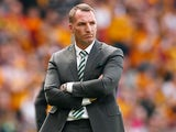 Celtic manager Brendan Rodgers at the Scottish Cup final between Celtic and Motherwell on May 19, 2018
