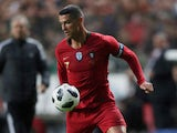 Cristiano Ronaldo in action during the friendly game between Portugal and Algeria on June 7, 2018