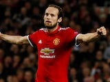 Daley Blind in action for Manchester United on October 31, 2017