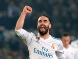 Dani Carvajal in action for Real Madrid in the Champions League on March 6, 2018