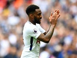 Tottenham Hotspur's Danny Rose applauds the fans after the match against Leicester City on May 13, 2018