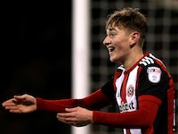 David Brooks in action for Sheffield United on March 13, 2018