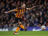 Hull City's David Meyler misses a penalty in the FA Cup game against Chelsea on February 16, 2018