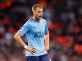 Florian Lejeune in action for Newcastle United on May 9, 2018