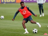 Fred in training with Brazil ahead of the 2018 World Cup