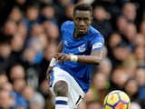 Idrissa Gueye in action for Everton in February 2018