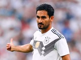 Ilkay Gundogan in action for Germany on June 8, 2018