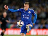 Jamie Vardy in action for Leicester City on October 16, 2017
