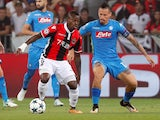 Nice's Jean Michael Seri in action with Napoli's Marek Hamsik on August 22, 2017