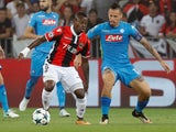 Nice's Jean Michael Seri in action with Napoli's Marek Hamsik on August 22, 2017