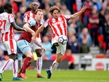 Stoke City's Joe Allen in action against Burnley on April 22, 2018