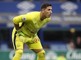 Joel Robles in action for Everton on March 11, 2017