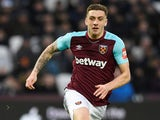Jordan Hugill in action for West Ham United on February 10, 2018