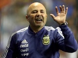 Argentina manager Jorge Sampaoli on May 30, 2018