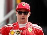 Ferrari's Kimi Raikkonen before practice for the Monaco Grand Prix on May 24, 2018