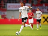 Leroy Sane in action for Germany during a friendly on June 2, 2018