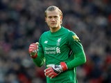 Loris Karius in action for Liverpool on February 24, 2018