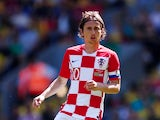 Croatia midfielder Luka Modric in action during his side's international friendly with Brazil at Wembley on June 3, 2018